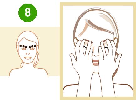 masaż punktów refleksologicznych na brwiach
