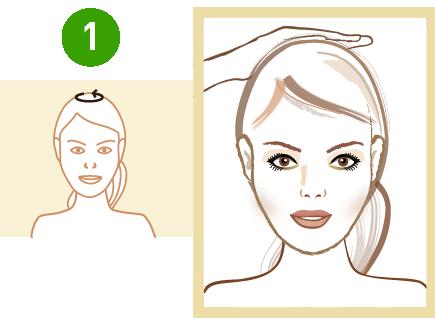masaż czubka głowy